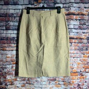 Rafaella Belted Casual Linen Skirt